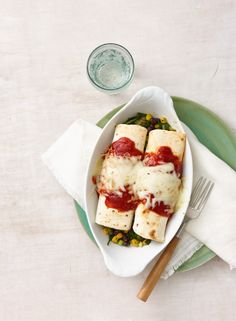 Black Bean, Corn, and Spinach Enchiladas