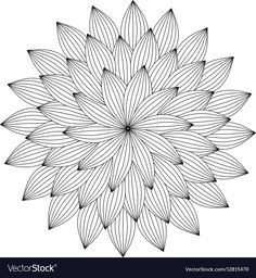Graphic Mandala with abstract petals Zentangle Vector Image - Graphic Mandala with abstract petals Zentangle Vector Image - Zentangle Drawings, Zentangle Patterns, Doodle Drawings, Abstract Pencil Drawings, Art Drawings Sketches Simple, Mandala Art Lesson, Mandala Drawing, Doodle Art Designs, Tattoo Designs
