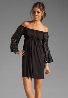 VAVA BY JOY HAN Skyler Off the Shoulder Dress in Black at Revolve Clothing