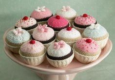 Cute crocheted cupcakes