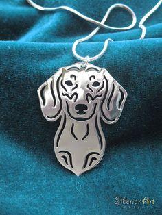 Dachshund jewelry  silver dog jewelry  by SiberianArtJewelry