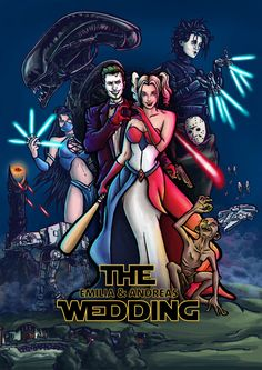 Harley and The Joker, Karen Luquez Injustice 2, Aliens Funny, Twisted Disney, Jessica Rabbit, Joker And Harley Quinn, Wedding Invitations, Wedding Card, Catwoman, Dc Comics