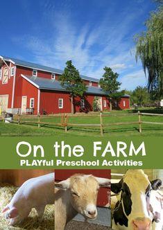 Preschool Activities Farm Theme