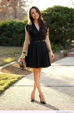 Hapa Time simple lady black dress