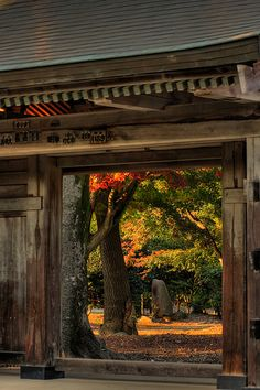 the entrance of Saiko-in temple, Ibaraki, Japan