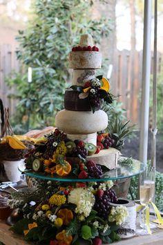 all cheese wedding cake. If I had a wedding redo I would definitely consider this! Yum