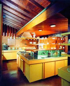 "John Lautner-designed modernist house in California used in ""A Single Man"" (kitchen)"