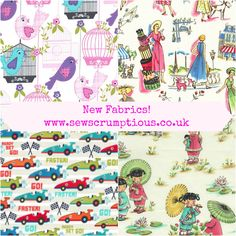 Lovely new fabrics and some old favourites at www.sewscrumptious.co.uk