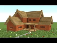 MINECRAFT: How to build big wooden house #3 - YouTube