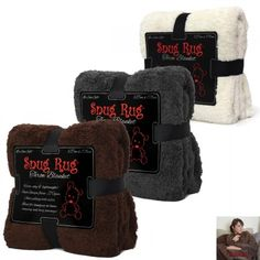 Plaid Snug Rug Deluxe Extra Doux : Kas Design, Distributeur de Produits Originaux
