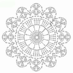 What do you know about crochet mandala pattern? It is a beautiful crochet pattern that can be adapted for creating a functional crochet item. Crochet Mandala is typical in which it has a circular shape and various colors of the… Continue Reading → Crochet Doily Diagram, Crochet Mandala Pattern, Crochet Circles, Crochet Flower Patterns, Crochet Squares, Crochet Chart, Crochet Doilies, Crochet Flowers, Crochet Stitches
