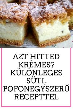 Hungarian Desserts, Cake Cookies, French Toast, Healthy Living, Deserts, Muffin, Dessert Recipes, Food And Drink, Cooking Recipes