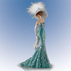 Classic Elegance Swarovski Crystals Thomas Kinkade Lady Figurine Bradford   eBay