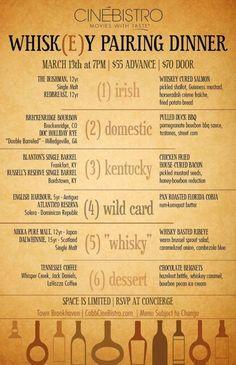CinéBistro Whiskey Pairing (March 13)
