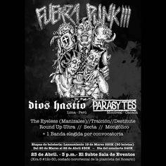 Fuerza Punk! III A partir de hoy inicia la pre-venta único día a 20 lk$ en Rat Trap! #fuerzapunk #dioshastío #parasytes #bogotá #crust #rawpunk #mongólico #theeyeless #traición #secta #destitute #grindcore #punk #rawpunk #diy #htm by junk_utopia #DaylightStyle