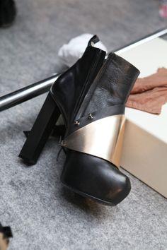 More black boots.    THES SHOES AKDLFJASDLKJFALSDKJFALSDKJFLASDKJF