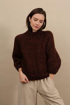 Ravelry: Strathcona Sweater pattern by Tara-Lynn Morrison Big Wool, Tara Lynn, Sweater Knitting Patterns, Knitting Ideas, Free Knitting, How To Purl Knit, Knit Dress, Lana, Knitwear