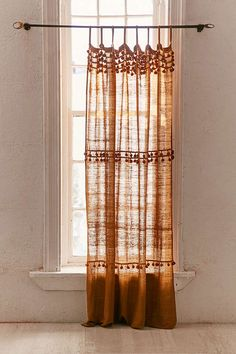 Slide View: Averi Pompom Gauze Window Curtain Source by curtains Ikea Curtains, Living Room Decor Curtains, Sheer Curtains, Window Curtains, Bedroom Decor, Patterned Curtains, Neutral Curtains, Orange Curtains, Cute Curtains