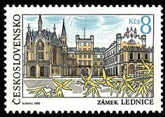 Марка: Lednice castle (Чехословакия) (Beauty of our country) Mi:CS 3128,Sn:CS 2869,Yt:CS 2927,AFA:CS 2980,POF:CS 3020