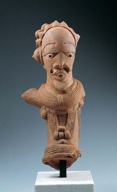 ~Male Figure. Place: Africa, Northern Nigeria Culture: Nok culture Dates: c. 500 B.C.–A.D. 500/ c. 195 B.C.–A.D. 205 Medium: Terracotta