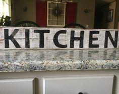 Kitchen Wood Sign Rustic Kitchen Decor by CamelliaCottageDecor