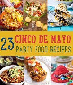 23 Cinco de Mayo Party Food Recipes | http://diyready.com/23-cinco-de-mayo-recipes-to-get-the-party-started/