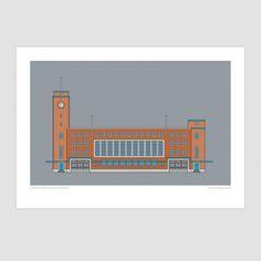Christchurch Railway Station - Christchurch Historic Art Print