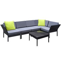 Gardeon Outdoor Sofa Set Lounge Setting Wicker Patio Furniture Garden Black - 9350062062937 For Sale, Buy from 5 Seat Lounge Sets collection at MyDeal for best discounts. Outdoor Sofa Sets, Outdoor Lounge, Outdoor Living, Garden Furniture Sets, Outdoor Garden Furniture, Pool Furniture, Wicker Sofa, Wicker Furniture, Affordable Outdoor Furniture
