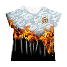 Hunger Games Wedding Dress On Fire T-shirt Women's