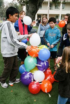 Team Building Exercise With Balloons