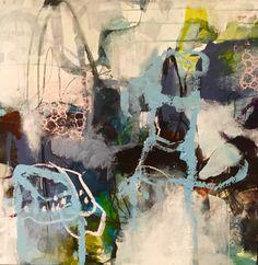 Abstrakt maleri 80x80 Www.ahn-univers.dk