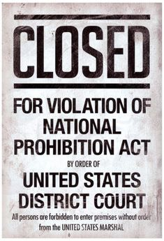 Prohibition Act Closed Sign Notice Poster Masterprint Roaring 20s Party, 1920s Party, Great Gatsby Party, Nye Party, The Great Gatsby, 1920s Theme, Gatsby Theme, Party Time, Flapper Party