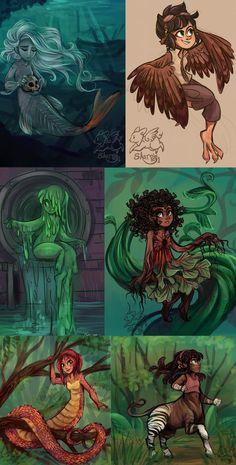Monster Girls by sharpie91 on deviantART