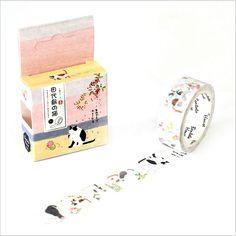 15mm Wide Japan Tashirojima Cats Life Swatch Washi Tape Adhesive Tape DIY Decorative Diary Scrapbook Sticker Label Masking Tape