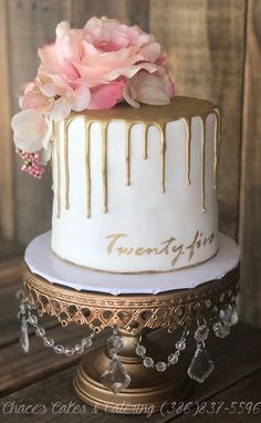 25th Birthday Cakes Cake For Mom Parties 21st Champagne Bday Ideas Shandy Drip Wedding Desserts