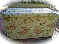 Fabric wet with starch will adhere to almost any surface. You could use it to cover:    1. Any furniture or drawer fronts  2. Line the inside of drawers  3. Backing for china cabinets  4. Cover the glass in old windows used for decorating  5. Dress forms  6. Mirrors  7. On painted walls instead of wallpaper.