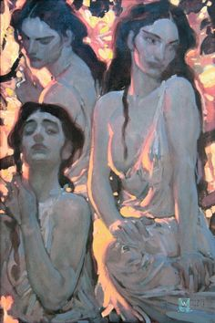 John Watkiss, I saw this painting at Comicon years ago. Art And Illustration, Illustrations, Figurative Kunst, Art Graphique, Pretty Art, Traditional Art, Art Inspo, Painting & Drawing, Amazing Art