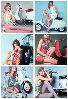 girls and scooters Vespa Motor Scooters, Piaggio Scooter, Vespa Bike, Scooter Motorcycle, Triumph Motorcycles, Vintage Motorcycles, Ducati, Scooter Vintage, Steampunk Motorcycle