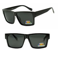870966510b Amazon.com  SunglassUP- Oversized Anti-Glare Dark Polarized Square Flat Top  Sunglasses  Clothing
