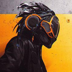 49 Ideas For Sci Fi Concept Art Cyberpunk Ideas Futuristic Helmet, Futuristic Armour, Robot Concept Art, Armor Concept, Concept Cars, Character Concept, Character Art, Ps Wallpaper, Cyberpunk Kunst