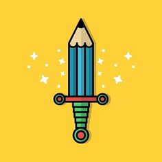 #sword #pencil #glory #instagram #lineart #design #illustration #vector #graphic #graphicdesign #vectorart #concept #icondesign #icon #iconaday #inspiration #icon_stagram #materialdesign #instaart #creative #bestvector #behance #digitalart #designer #illustrator #dribbble #drawing @graphicroozane @iconaday @visforvector by volkanbyklty