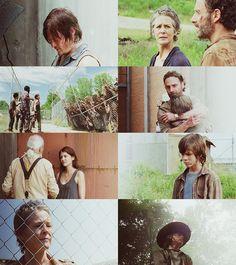 Daryl Dixon, Rick Grimes, Carl Grimes, Hershel Greene, Maggie Rhee, Carol Peletier ● Season 4 | The Walking Dead