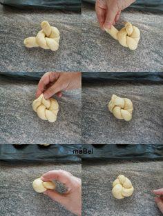 Panes de mantequilla y huevo - Mini challah ~ Pasteles de colores
