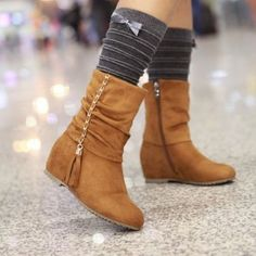 2014 FALL/WINTER SHOE TRENDS   ... Jeans & Tights Fall Winter Women Boots Fashion Trend 2014 2015 Fashion