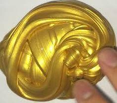 pretty gold slime (homemade slime fluffy)