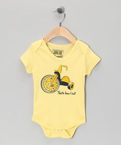 Thats how i roll! :) Light Yellow 'I Roll' Bodysuit - Infant by Solid Threads on #zulily today