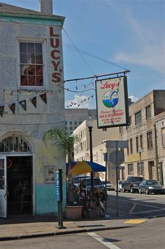 """Lucy's Retired Surfer Bar & Restaurant in New Orleans Warehouse District downtown.Another Pinner says """" In the mood for a good hamburger??? This is your place!""""."""