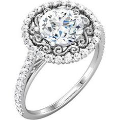 Semi-Mount Engagement Ring. Reset your old diamond and give it a new look.