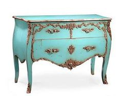 turquoise bedroom furniture | Amazon.com - Commode.....Turquoise & Gold - Bedroom Armoires