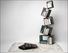 インスピレーションが刺激されるユニークなデザインの本棚いろいろ - GIGAZINE